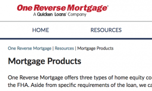 One Reverse Mortgage Review