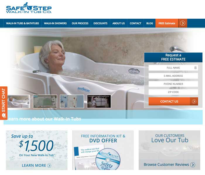 Safe Step home page
