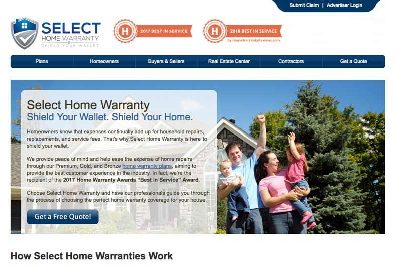 Select Home Warranty Reviews With Costs Retirement Living