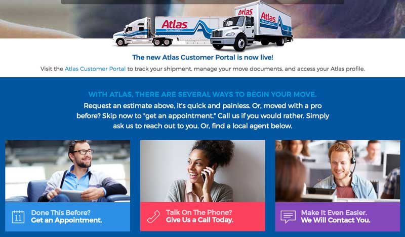 Atlas homepage