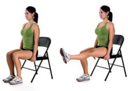 seated leg lifts