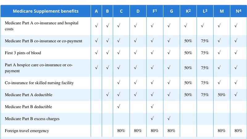 Medicare Supplement Plan snapshot