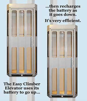 easy climber battery charged elevator