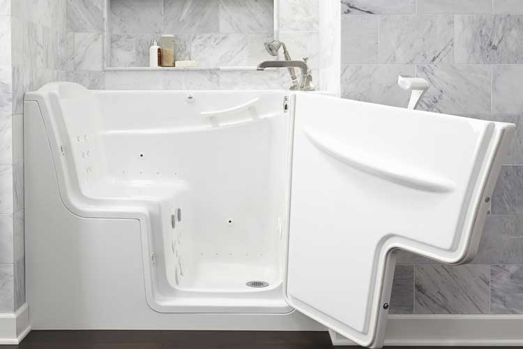 Walk-in tub sideview