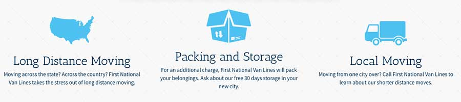 First National Van lines services