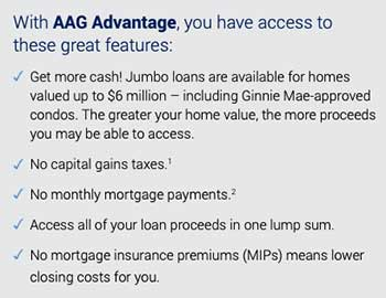 AAG jumbo reverse mortgage screenshot