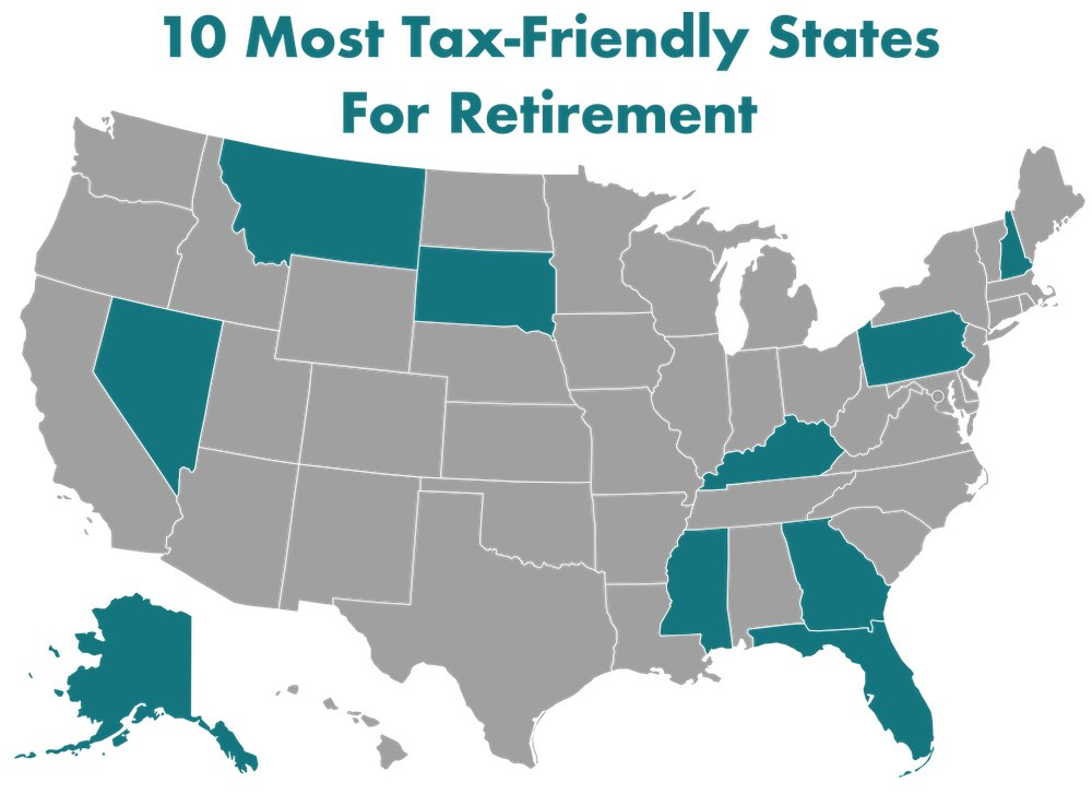 The Top 10 Most Tax-Friendly States For Retirement